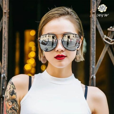 Fashion oversized frame retro sunglasses