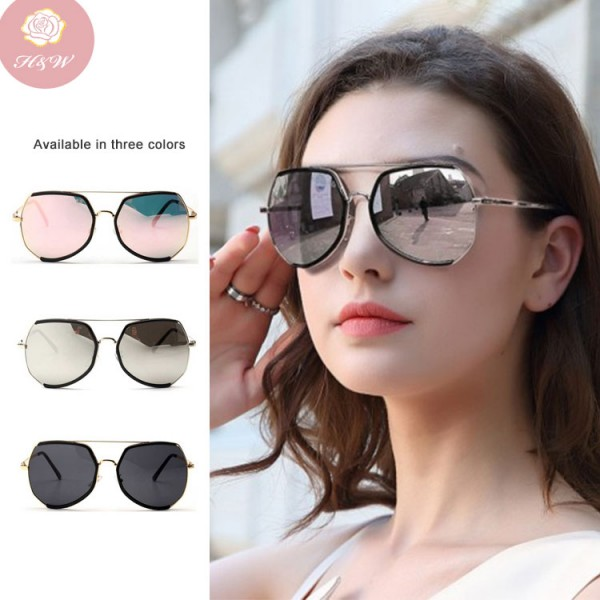 Fashion oversized frame retro sunglasses