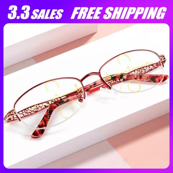 Lady progressive reading glasses..