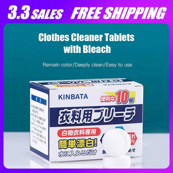 Clothes Cleaner Tablets with Bleach..