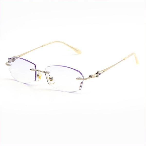 Fashion diamond-cut silver reading glasses