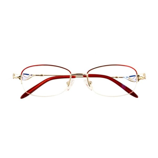 2021 eye protection half frame crystal reading glasses
