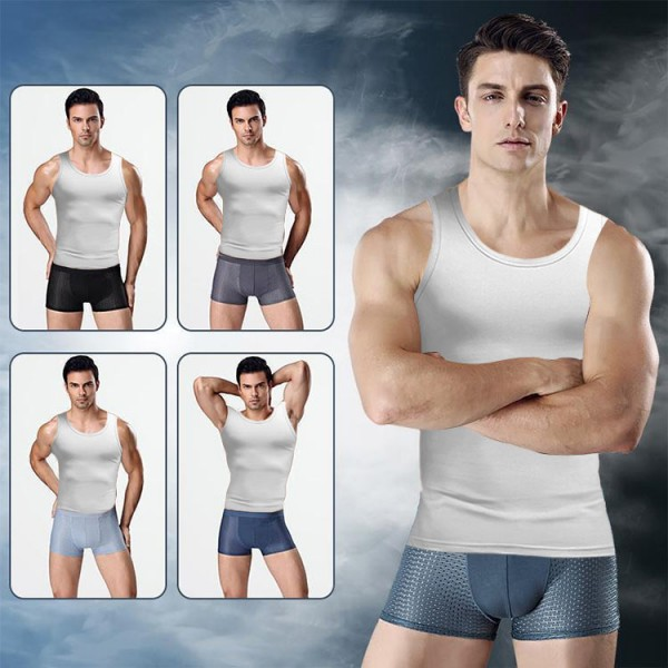 4pcs Ice Silk Men's Breathable 3d Magic Antibacterial Magnetic Underpants