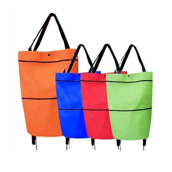 Foldable Eco-Friendly Shopping Trolley Tote Bag