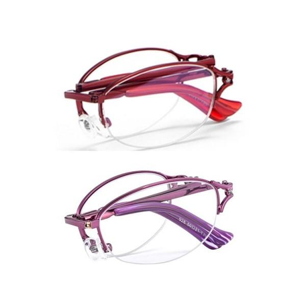 2021 Folding Half Frame Ladies Reading Glasses
