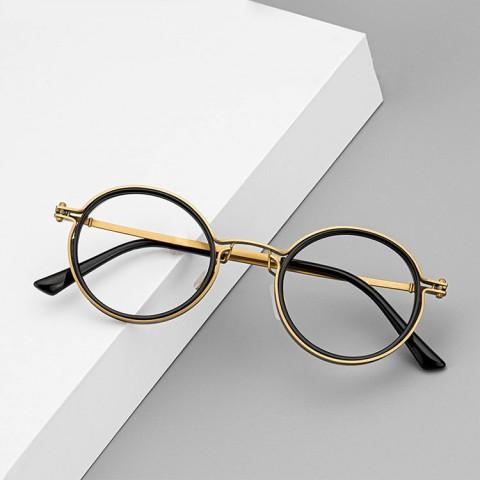 Designer pure titanium classic retro small round glasses frame
