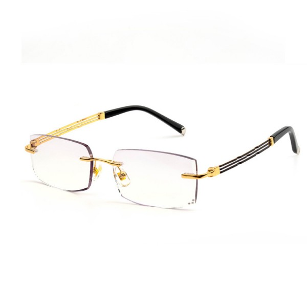Fashion diamond-cut gold reading glasses