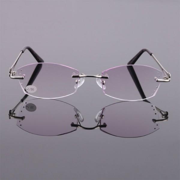 2021 Ladies fashionable diamond-cut reading glasses