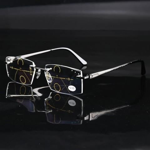 2021 fashionable diamond-cut progressive men reading glasses
