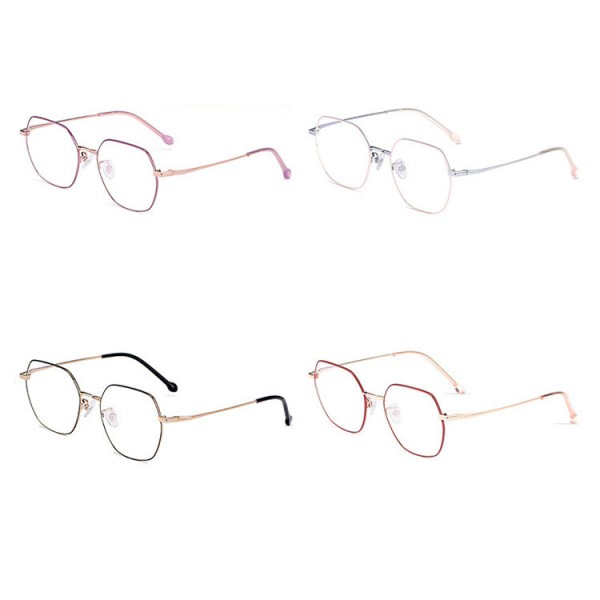 Ultra-light pure titanium retro polygonal glasses