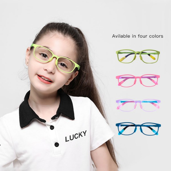 Unicorn color series children anti-blue light glasses