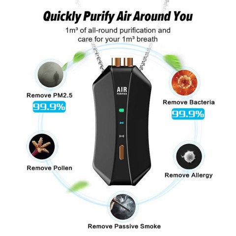 2021 high quality customized air purifier necklace