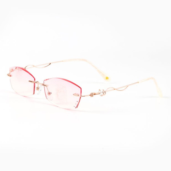 2021 fashionable ladies pink reading glasses