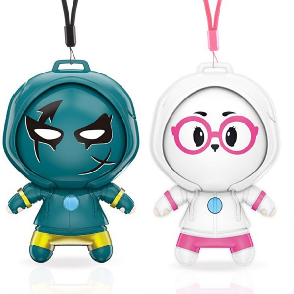 Cartoon portable mini hanging neck portable negative ion purifier necklace