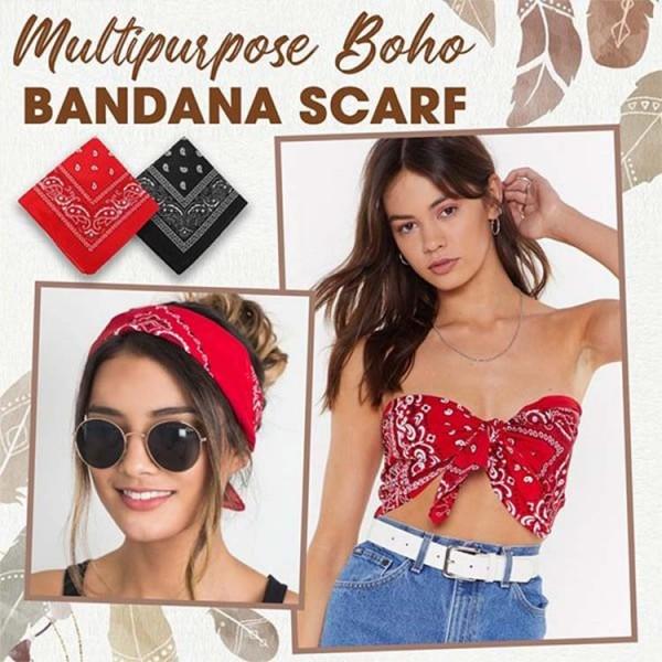 Multipurpose Boho Bandana Scarf..